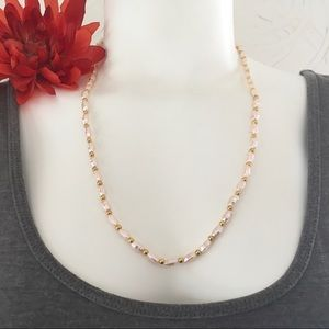 FREE Earrings to match Natural Pink Pearl Necklace